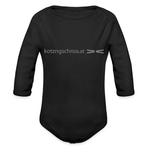 kotzngschroaat motiv - Baby Bio-Langarm-Body