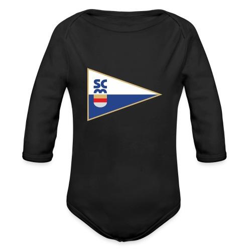 SCM Logo mit Schriftzug - Baby Bio-Langarm-Body