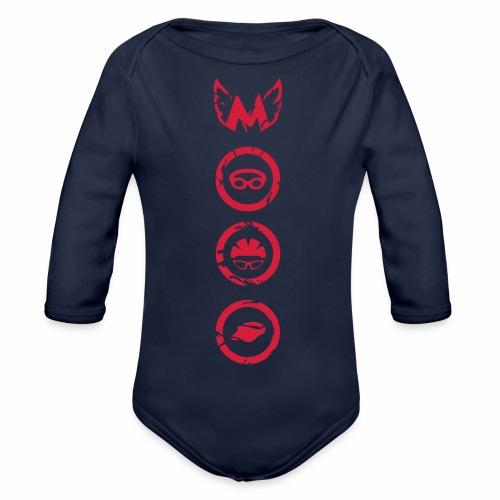 Mosso_run_swim_cycle - Body ecologico per neonato a manica lunga