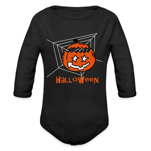 Halloween Kürbis 0PD37 - Baby Bio-Langarm-Body