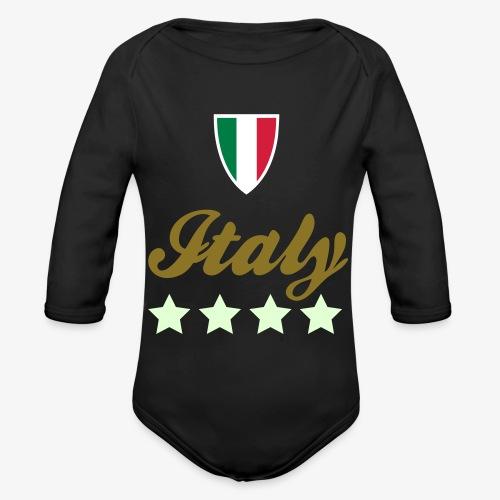 Gruppo di stelle Italia - Body ecologico per neonato a manica lunga