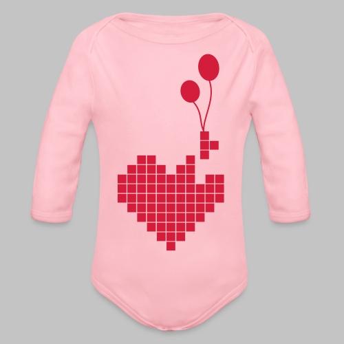 heart and balloons - Organic Longsleeve Baby Bodysuit