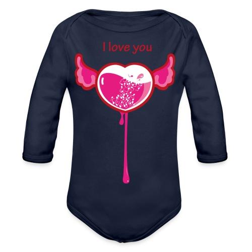 I love you - Body ecologico per neonato a manica lunga