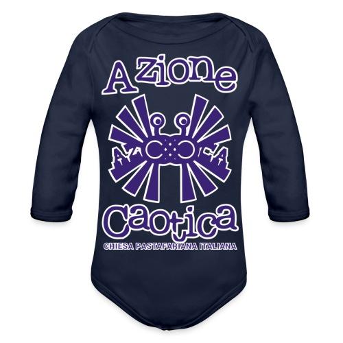 AzioneCaotica_SHOP_DEF - Body ecologico per neonato a manica lunga
