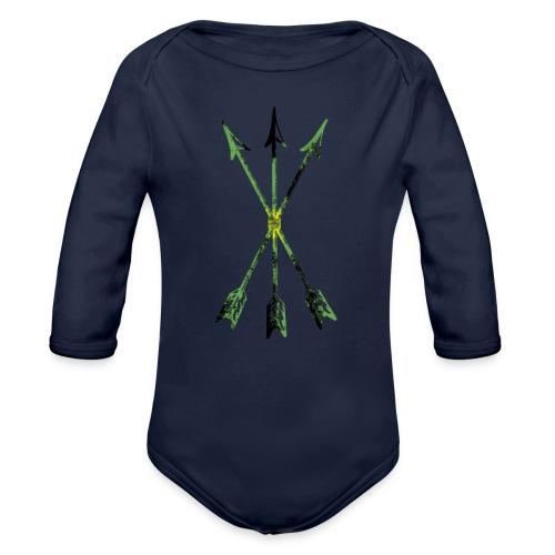 Scoia tael emblem green yellow black - Organic Longsleeve Baby Bodysuit