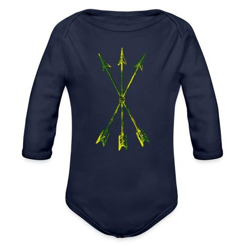 Scoia tael emblem green yellow - Organic Longsleeve Baby Bodysuit