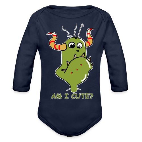 Cute monster - Organic Longsleeve Baby Bodysuit