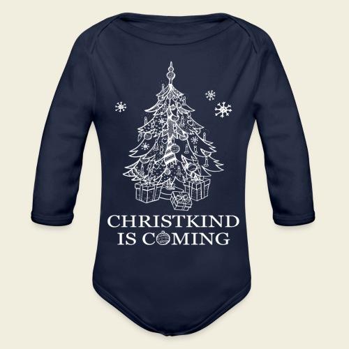 Christkind neu weiss - Baby Bio-Langarm-Body