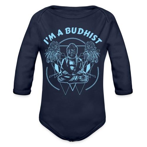 Im a budhist - Økologisk langermet baby-body