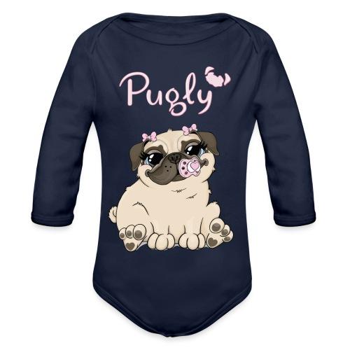 Bella Pug - Ekologisk långärmad babybody