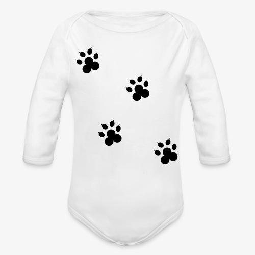 cat - Ekologiczne body niemowlęce z długim rękawem