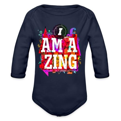 I am Amazing - Organic Longsleeve Baby Bodysuit