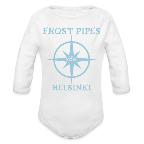 Frost Pipes Simple Compass - Organic Longsleeve Baby Bodysuit