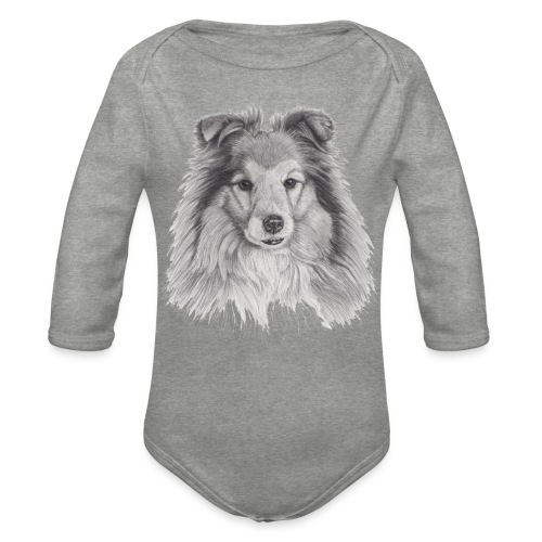 shetland sheepdog sheltie - Langærmet babybody, økologisk bomuld