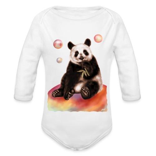 Panda World - Body ecologico per neonato a manica lunga