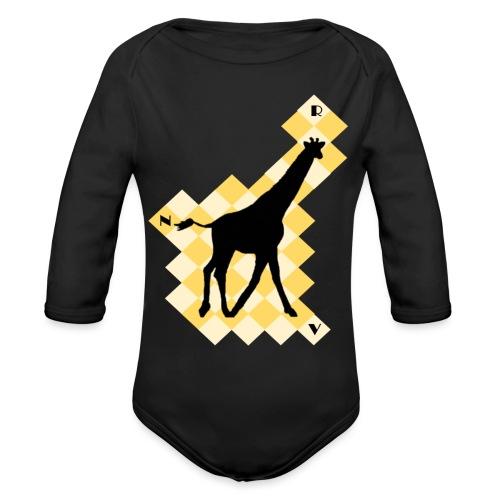 GiraffeSquare - Vauvan pitkähihainen luomu-body