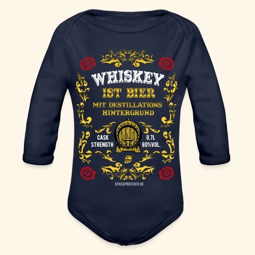 Whiskey ist Bier - Baby Bio-Langarm-Body