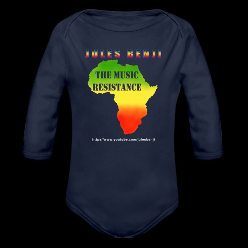 JULES BENJI & MUSIC RESISTANCE africa design - Organic Longsleeve Baby Bodysuit