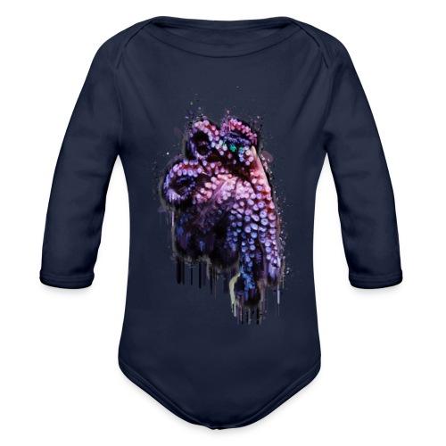 Octopus - Organic Longsleeve Baby Bodysuit