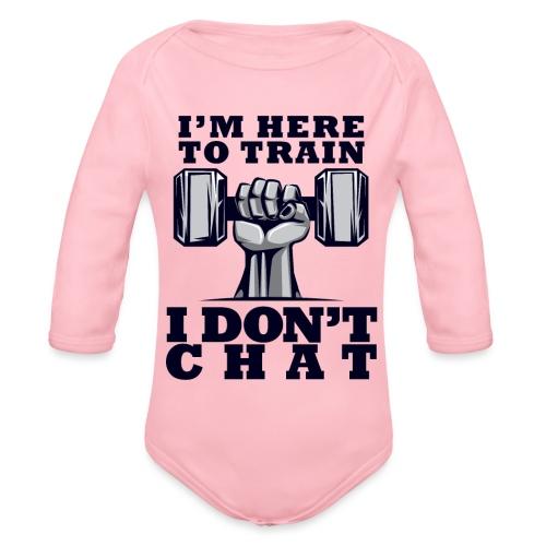 Train Chat - Vauvan pitkähihainen luomu-body