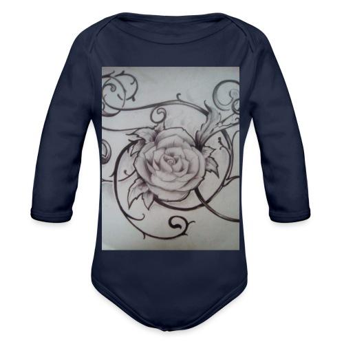 Tattoo Rose - Vauvan pitkähihainen luomu-body
