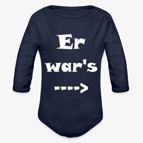 Er war´s - Baby Bio-Langarm-Body