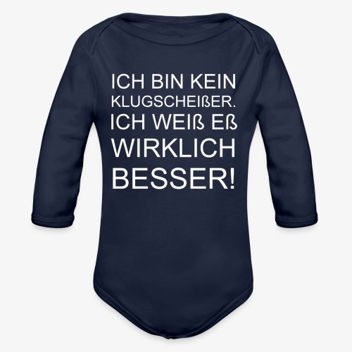 ICH BIN KEIN KLUGSCHEIßER - Baby Bio-Langarm-Body
