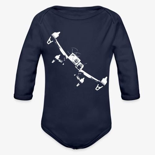 quadflyby2 - Organic Longsleeve Baby Bodysuit