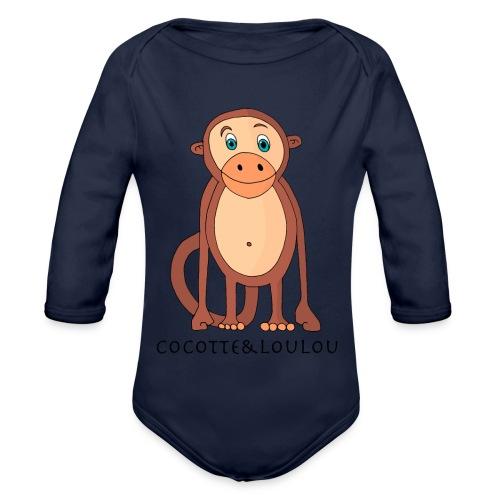 Bobo le singe - Body Bébé bio manches longues