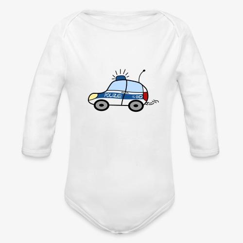 nachwuchs polizist weiss - Baby Bio-Langarm-Body