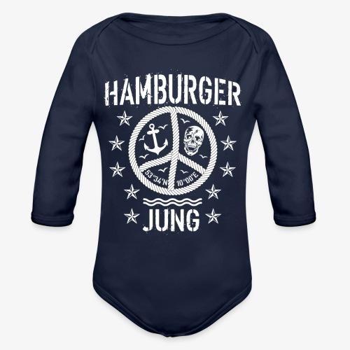 96 Hamburger Jung Peace Friedenszeichen Seil - Baby Bio-Langarm-Body