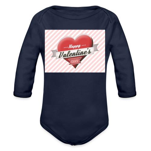 happy valentines day - Organic Longsleeve Baby Bodysuit