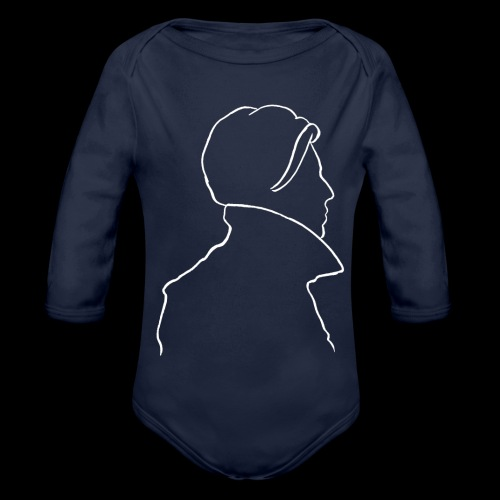 David Bowie Low (white) - Organic Longsleeve Baby Bodysuit