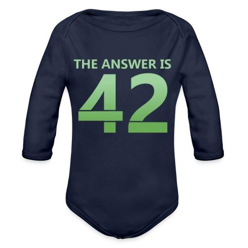 42 - Organic Longsleeve Baby Bodysuit