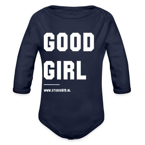 TANK TOP GOOD GIRL - Baby bio-rompertje met lange mouwen