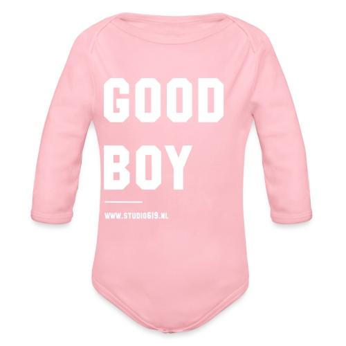 TANK TOP GOOD BOY - Baby bio-rompertje met lange mouwen