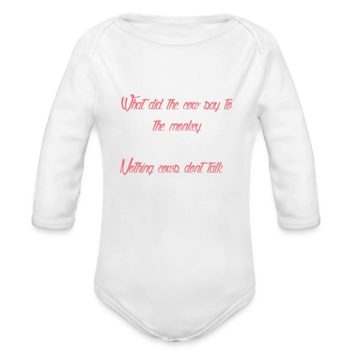 The T shirt of glory - Organic Longsleeve Baby Bodysuit