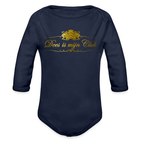 Dees is men club tshirt - Baby bio-rompertje met lange mouwen