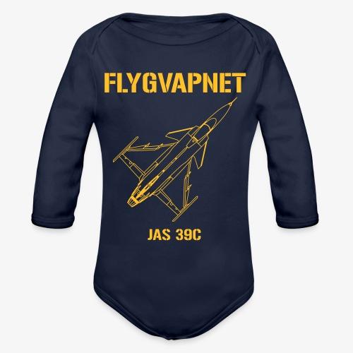 Flygvapnet JAS 39C - Ekologisk långärmad babybody