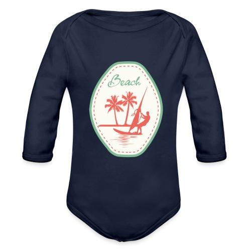 Beach - Organic Longsleeve Baby Bodysuit