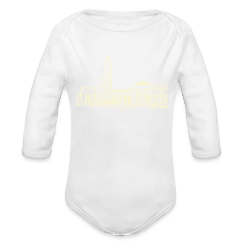 Helsinki railway station pattern trasparent beige - Organic Longsleeve Baby Bodysuit