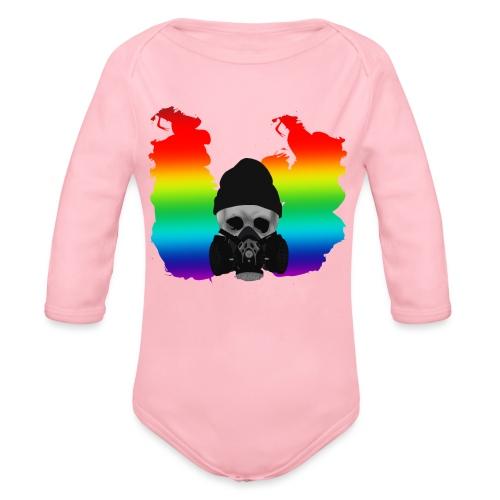 punk skull 2 - Organic Longsleeve Baby Bodysuit