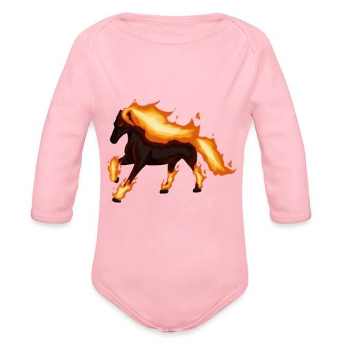 War Horse - Organic Longsleeve Baby Bodysuit