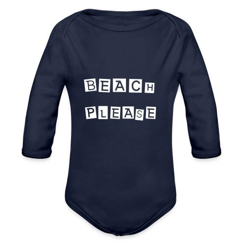 Beach please - Baby Bio-Langarm-Body