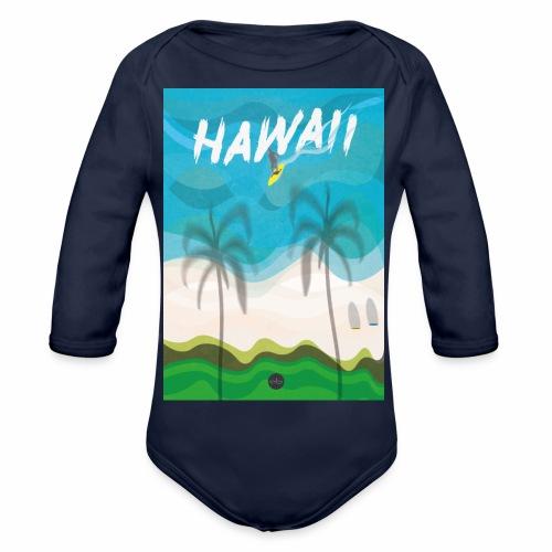 Hawaii - Organic Longsleeve Baby Bodysuit