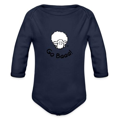 Sheep Go Baaa! - Organic Longsleeve Baby Bodysuit