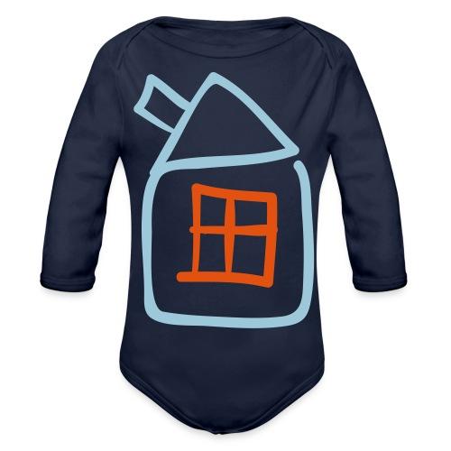 House Outline Pixellamb - Baby Bio-Langarm-Body