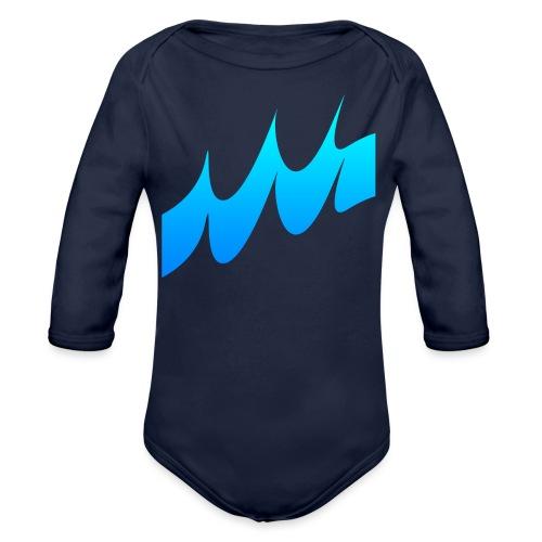 Ocean Waves or just Deep - Organic Longsleeve Baby Bodysuit