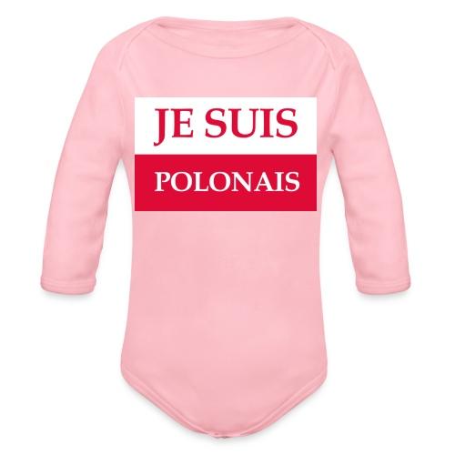 Je suis Polonais - Ekologiczne body niemowlęce z długim rękawem
