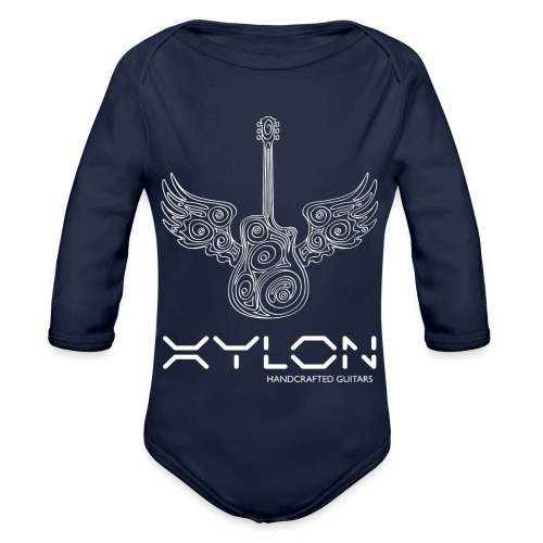 Xylon Guitars Premium T-shirt (white design) - Organic Longsleeve Baby Bodysuit